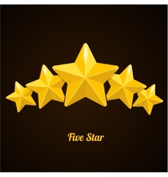 Rating with five stars concept on black vector
