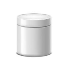 Realistic detailed 3d translucent plastic jar vector