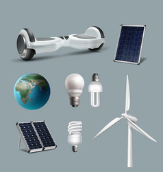 Renewable energy set vector