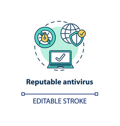 Reputable antivirus concept icon vector