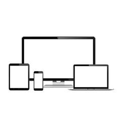 Responsive web design computer display vector