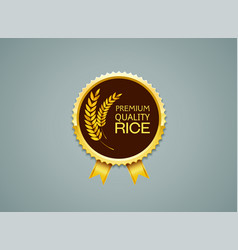 Rice label vector