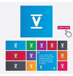 Roman numeral five icon Roman number five sign vector