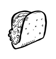 sandwich doodle vector image