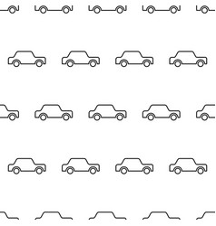 seamless pattern from icon car black contour on a vector image