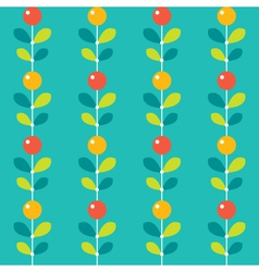 Seamless stylized berries pattern vector image