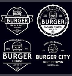 set badges banner labels and logo vector image