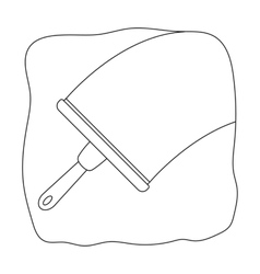 Squeegee icon in outline style isolated on white vector image