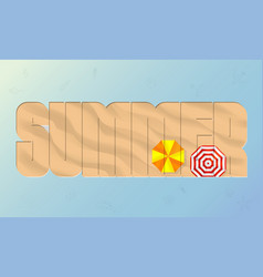 summer beach sand background top view mesh vector image