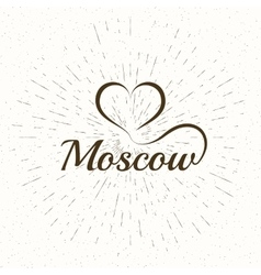 The custom hand lettering poster Moscow vector image vector image