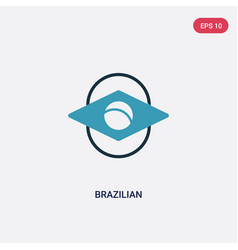 two color brazilian icon from sports concept vector image