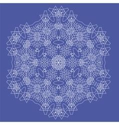 White Mandala Isolated Round Ornament vector image