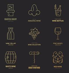 Wine Logos vector