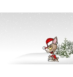 Winter And Rabbit vector image