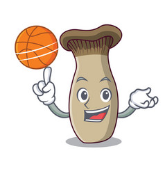 With basketball king trumpet mushroom character vector