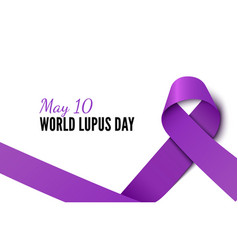 World lupus day ribbon realistic banner vector