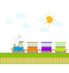 cartoon train vector image vector image