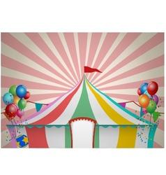 Circus Tent Celebration vector image