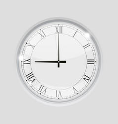 Clock with roman numerals 9 o clock vector