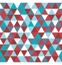 Colorful geometric abstract triangle particles vector image