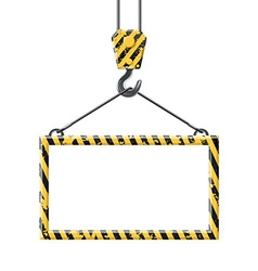 Industrial hook holding frame vector image vector image