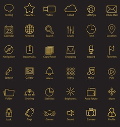 Set of universal modern thin line icons for web vector image vector image