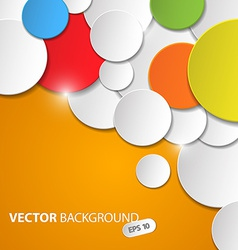 abstract background with colorful circles vector image vector image