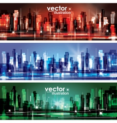 Abstract cityscape background banners vector image vector image