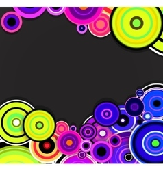 Abstract colorful rings background vector image