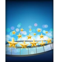 cinema blue background vector image vector image
