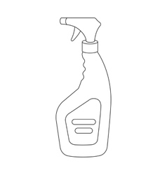 Cleaner spray icon in outline style isolated on vector image vector image