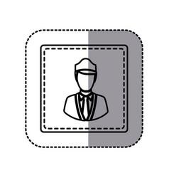 contour emblem guard person icon vector image