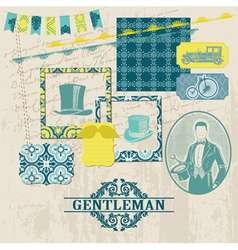 Gentlemens Accessories Set vector image