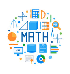 math round flat modern or vector image