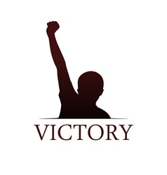 Victory logo template vector image