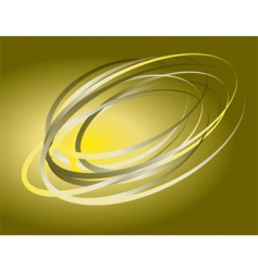 abstract background of rotating rings vector image vector image