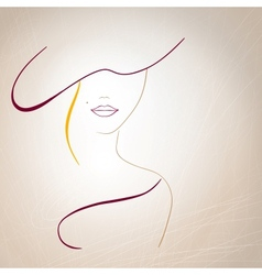 Abstract silhouette of a woman with a mole on the vector image