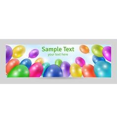 Festive background banner template vector image