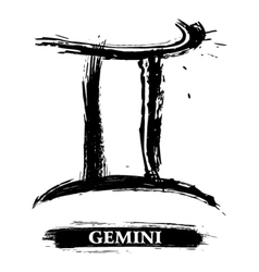 Gemini symbol vector image vector image
