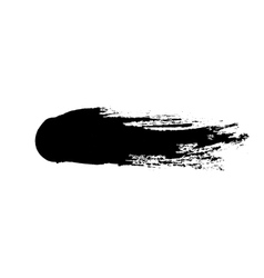 grunge ink brush isolated on white vector image vector image