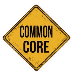 common core vintage rusty metal sign vector image