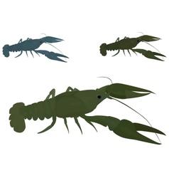 Green crayfish vector