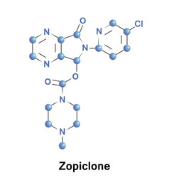 zopiclone is a nonbenzodiazepine medication vector image