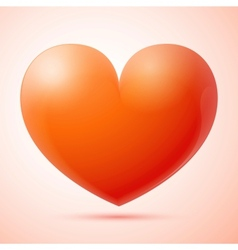 3d heart isolated vector image