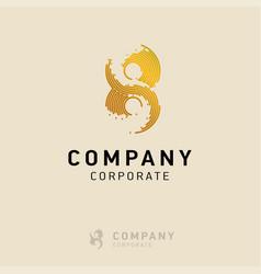 8 company logo design vector image