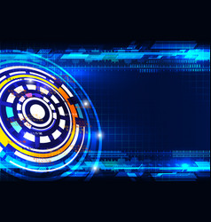 abstract circle future technology vector image