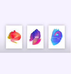 abstract fluid gradient background set vector image