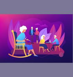 activities for seniors concept vector image