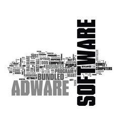 adware are your business s computers secure text vector image