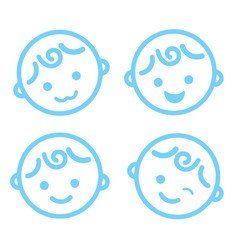 Baby boy face icon symbol isolated background vector